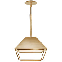 Visual Comfort BBL5101SB-FA Barbara Barry Odeum 2 Light 14 inch Soft Brass Hanging Lantern Ceiling Light, Small