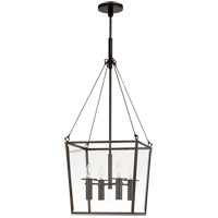Visual Comfort BBL5105BZ Barbara Barry Cochere 4 Light 15 inch Bronze Lantern Pendant Ceiling Light, Medium