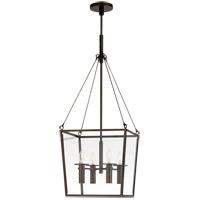 Visual Comfort BBL5105BZ Barbara Barry Cochere 4 Light 15 inch Bronze Lantern Pendant Ceiling Light Medium