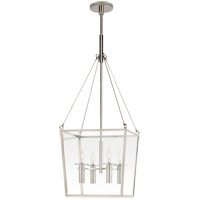Visual Comfort BBL5105PN Barbara Barry Cochere 4 Light 15 inch Polished Nickel Lantern Pendant Ceiling Light, Medium