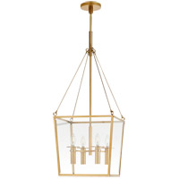 Visual Comfort BBL5105SB Barbara Barry Cochere 4 Light 15 inch Soft Brass Lantern Pendant Ceiling Light, Medium