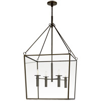 Visual Comfort BBL5106BZ Barbara Barry Cochere 4 Light 24 inch Bronze Lantern Pendant Ceiling Light, Large