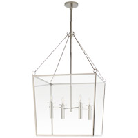 Visual Comfort BBL5106PN Barbara Barry Cochere 4 Light 24 inch Polished Nickel Lantern Pendant Ceiling Light, Large