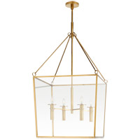 Visual Comfort BBL5106SB Barbara Barry Cochere 4 Light 24 inch Soft Brass Lantern Pendant Ceiling Light, Large