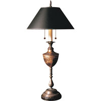 Visual Comfort E.F. Chapman English 2 Light Decorative Table Lamp in Antique Brass with Rust CHA8113ABR-B