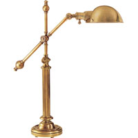 Visual Comfort E.F. Chapman Pimlico 1 Light Task Table Lamp in Antique-Burnished Brass CHA8150AB-AB