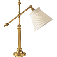 Visual Comfort CHA8150AB-LC E. F. Chapman Pimlico 25 inch 60 watt Antique-Burnished Brass Task Table Lamp Portable Light in Antique Burnished Brass, Linen