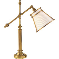 E.F. Chapman Pimlico 25 inch 60 watt Antique-Burnished Brass Task Table Lamp Portable Light in Antique Burnished Brass, Linen Pleated