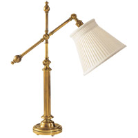 Visual Comfort CHA8150AB-LC E. F. Chapman Pimlico 25 inch 60 watt Antique-Burnished Brass Task Table Lamp Portable Light in Linen