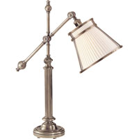 Visual Comfort E.F. Chapman Pimlico 1 Light Task Table Lamp in Antique Nickel CHA8150AN-LCF