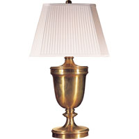 Visual Comfort E.F. Chapman Classical 1 Light Decorative Table Lamp in Antique-Burnished Brass CHA8162AB-S