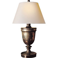 Visual Comfort E.F. Chapman Classical 1 Light Decorative Table Lamp in Sheffield Nickel CHA8162SN-NP