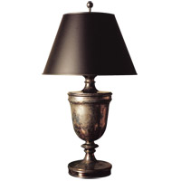 Visual Comfort CHA8162SN-B E. F. Chapman Classical 35 inch 100 watt Sheffield Nickel Decorative Table Lamp Portable Light in Black Paper