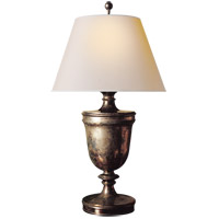 Visual Comfort CHA8162SN-NP E. F. Chapman Classical 35 inch 100 watt Sheffield Nickel Decorative Table Lamp Portable Light in Natural Paper