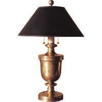 Visual Comfort E.F. Chapman Classical Urn Form 2 Light Decorative Table Lamp in Antique-Burnished Brass CHA8172AB-B
