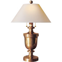 Visual Comfort CHA8172AB-NP E. F. Chapman Classical 24 inch 40 watt Antique-Burnished Brass Decorative Table Lamp Portable Light in Antique Burnished Brass, Natural Paper
