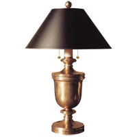 Visual Comfort CHA8172AB-B E. F. Chapman Classical 24 inch 40 watt Antique-Burnished Brass Decorative Table Lamp Portable Light in Black Paper