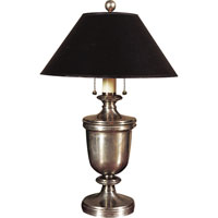Visual Comfort E.F. Chapman Classical Urn Form 2 Light Decorative Table Lamp in Antique Nickel CHA8172AN-B