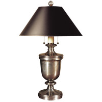 Visual Comfort CHA8172AN-B E. F. Chapman Classical 24 inch 40 watt Antique Nickel Decorative Table Lamp Portable Light in Black Paper