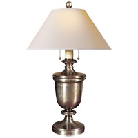 Visual Comfort CHA8172AN-NP E. F. Chapman Classical 24 inch 40 watt Antique Nickel Decorative Table Lamp Portable Light in Natural Paper
