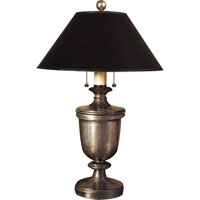 Visual Comfort E.F. Chapman Classical Urn Form 2 Light Decorative Table Lamp in Sheffield Nickel CHA8172SN-B