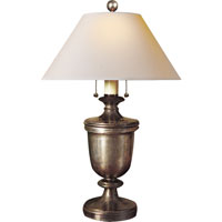 E. F. Chapman Classical 24 inch 40 watt Sheffield Nickel Decorative Table Lamp Portable Light in Natural Paper