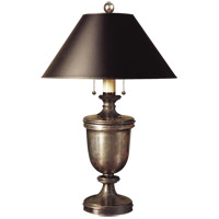 Visual Comfort E. F. Chapman Classical 24 inch 40 watt Sheffield Nickel Decorative Table Lamp Portable Light in Black Paper CHA8172SN-B - Open Box