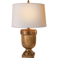 Visual Comfort CHA8173AB-NP E. F. Chapman Chunky 31 inch 100 watt Antique-Burnished Brass Decorative Table Lamp Portable Light in Antique Burnished Brass, Natural Paper
