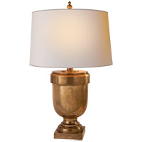 Visual Comfort CHA8173AB-NP E. F. Chapman Chunky 31 inch 150 watt Antique-Burnished Brass Decorative Table Lamp Portable Light in Natural Paper