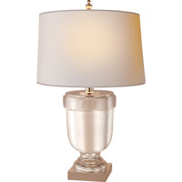 Visual Comfort E.F. Chapman Chunky 1 Light Decorative Table Lamp in Polished Silver CHA8173PS-NP