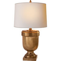 Visual Comfort CHA8174AB-NP E. F. Chapman Chunky 38 inch 100 watt Antique-Burnished Brass Decorative Table Lamp Portable Light in Antique Burnished Brass