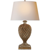 Visual Comfort CHA8180WGL-NP E. F. Chapman Bowen 31 inch 150 watt Weathered White and Gold Table Lamp Portable Light