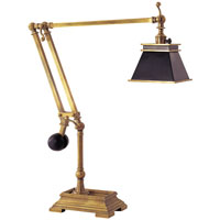 E.F. Chapman Engravers 26 inch 60 watt Antique-Burnished Brass Task Table Lamp Portable Light