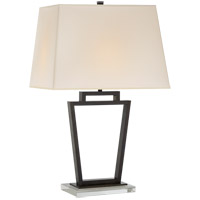 Visual Comfort E.F. Chapman Darlana 1 Light Table Lamp in Bronze with Natural Paper Shade CHA8254BZ-NP