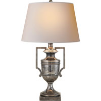 Visual Comfort E.F. Chapman Regency 1 Light Decorative Table Lamp in Sheffield Silver CHA8355SHS-NP