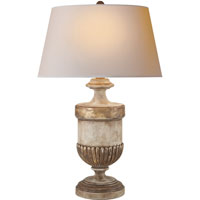 Visual Comfort CHA8359WGL-NP E. F. Chapman Chunky 29 inch 100 watt Old White with Antique Gold leaf Decorative Table Lamp Portable Light