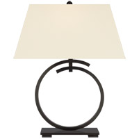 Visual Comfort CHA8401BZ-PL E. F. Chapman Launceton 29 inch 100 watt Bronze Table Lamp Portable Light, Large Ring