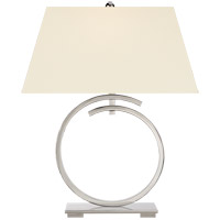 Visual Comfort CHA8401PN-PL E. F. Chapman Launceton 29 inch 100 watt Polished Nickel Table Lamp Portable Light, Large Ring