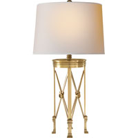 Visual Comfort E.F. Chapman Regency 1 Light Decorative Table Lamp in Antique-Burnished Brass CHA8465AB-NP