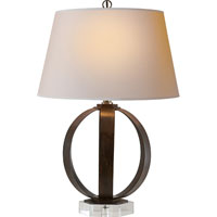 Visual Comfort E.F. Chapman Metal Banded 1 Light Decorative Table Lamp in Aged Iron with Wax CHA8530AI-NP