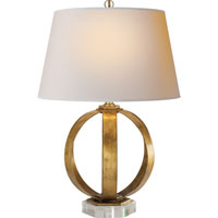 E.F. Chapman Metal Banded 29 inch 100 watt Gilded Iron with Wax Decorative Table Lamp Portable Light