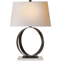 E.F. Chapman Rings 28 inch 100 watt Aged Iron with Wax Decorative Table Lamp Portable Light