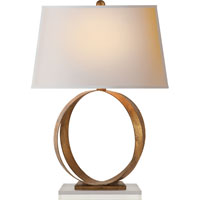 Visual Comfort E.F. Chapman Rings 1 Light Decorative Table Lamp in Gilded Iron with Wax CHA8531GI-NP