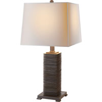 Visual Comfort E.F. Chapman Convector 1 Light Decorative Table Lamp in Antique Zinc CHA8536AZ-NP