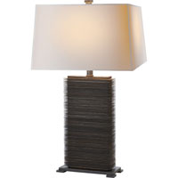 Visual Comfort E.F. Chapman Convector 1 Light Decorative Table Lamp in Antique Zinc CHA8539AZ-NP