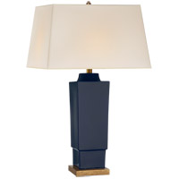 Visual Comfort CHA8590DM-NP E. F. Chapman Khan 31 inch 150 watt Denim Porcelain Table Lamp Portable Light