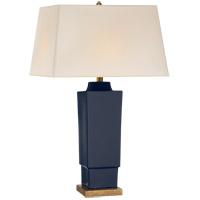 Visual Comfort CHA8590DM-NP E. F. Chapman Khan 31 inch 150 watt Denim Porcelain Table Lamp Portable Light