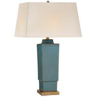 Visual Comfort CHA8590OSB-NP E. F. Chapman Khan 31 inch 150 watt Oslo Blue Table Lamp Portable Light
