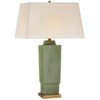 Visual Comfort CHA8590SHK-NP E. F. Chapman Khan 31 inch 150 watt Shellish Kiwi Table Lamp Portable Light