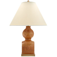 E.F. Chapman Huping 32 inch 150 watt Shanghai Brown Table Lamp Portable Light, E.F. Chapman, Gourd, Vase, Natural Percale Shade